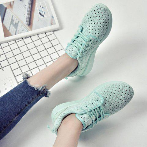 Trendy Mesh Breathable Athletic Shoes - 38 LIGHT GREEN Mobile