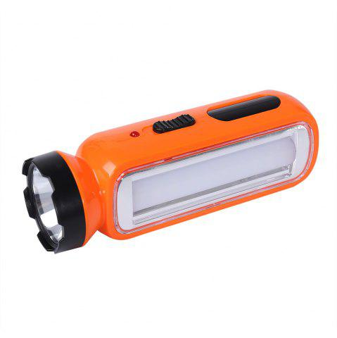 Outfits Portable Multifunctional LED Rechargeable Flashlight - ORANGE  Mobile
