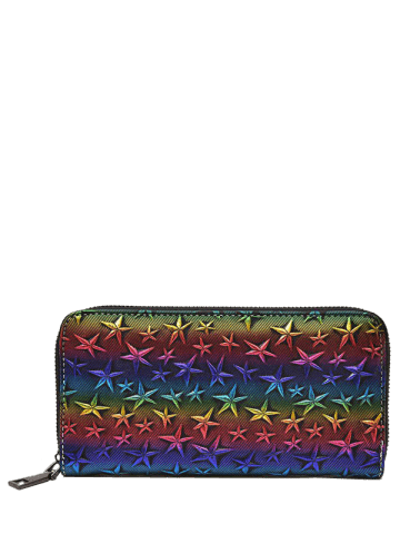 Store Star Embossing Clutch Wallet - COLORMIX  Mobile