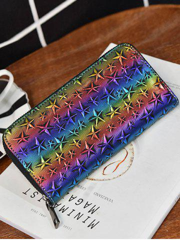 Best Star Embossing Clutch Wallet - COLORMIX  Mobile