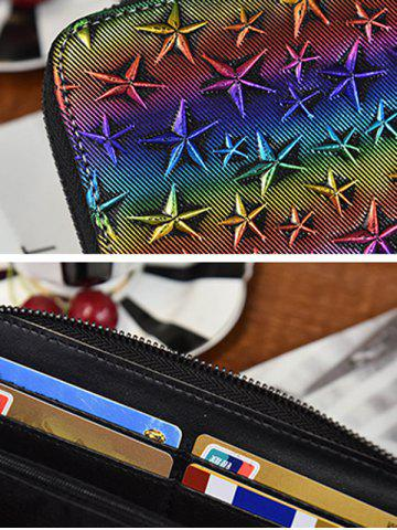 Outfits Star Embossing Clutch Wallet - COLORMIX  Mobile