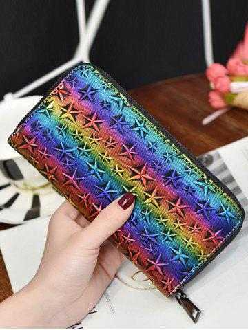 New Star Embossing Clutch Wallet - COLORMIX  Mobile