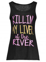 My Liver At The River Graphic Tank Top - BLACK XL
