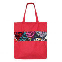 Patchwork Printed Canvas Shopper Bag