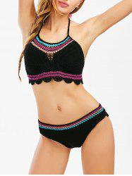 Halter Crochet Bikini with Tassels
