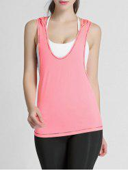 Hooded Long Workout Gym Tank Top