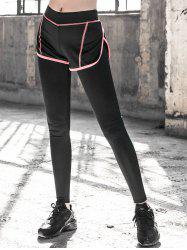 Skinny Spliced Running Pants