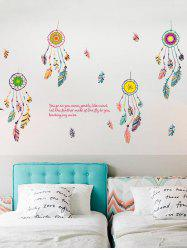 Art Feather Aeolian Bell Wall Stickers For Bedroom