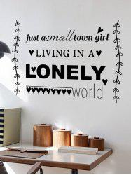 English Quote Removable Wall Stickers