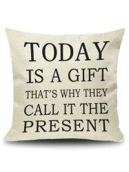 Today Letter Quote Printed Pillow Cover Case - PALOMINO