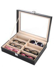 8 Gids Leather Plastic Top Glasses Case Jewelry Dispay Storage Box
