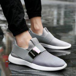 Mesh Elastic Band Casual Shoes - GRAY