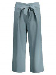 High Waisted Wide Leg Pants With Belt