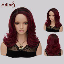 Adiors Medium Shaggy Side Part Tail Upwards Colormix Synthetic Wig
