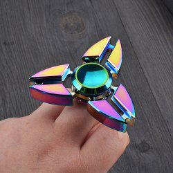Colorful Stress Relief Toy Triangle Fidget Finger Spinner - COLORMIX