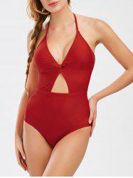 Halter Backless Cut Out Swimwear