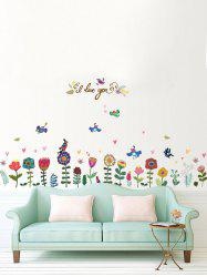 Floral Bird Heart Removable Wall Sticker