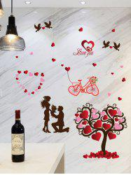 Tree Heart Love You Removable Wall Sticker