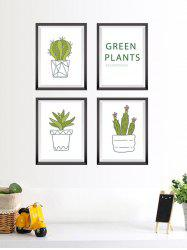 Vinyl Cactus Plant Photo Frame Wall Stickers