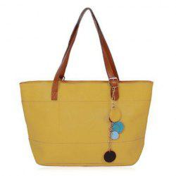 Pendant Pebble Faux Leather Shopper Bag -