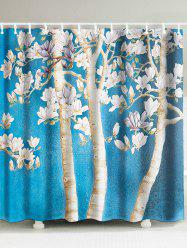 Waterproof Fabric Peach Blossom Shower Curtain