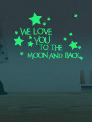 Luminous Star Quote Vinyl Stickers For Wall - NEON GREEN