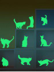Cat Animals Luminous Wall Stickers For Kids