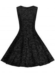 Plus Size Lace Cocktail Skater Formal Dress