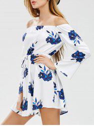 Floral A Line Off The Shoulder Dress