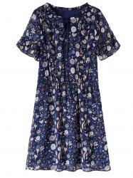 Knee Length Plus Size Print Dress
