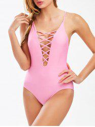 Cami Strap Lace-Up Junior Swimsuit