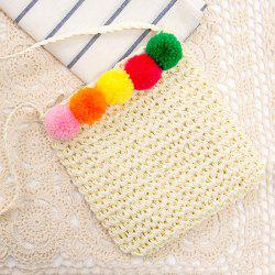 Pom Pom Straw Crossbody bag