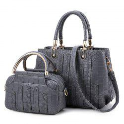 Crocodile Pattern 2 Pieces Handbag Set