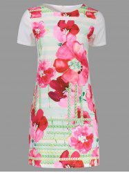 Print Short T Shirt Dress