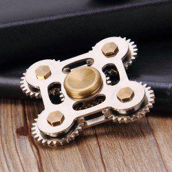Stress Relief Toy Fingertip Toy Gears Gyroscope à doigts - Argent