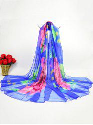 Lightsome Floral Gossamer Ice Silk Fabric Scarf