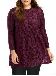 Paisley Plus Size Empire Waist Lace Top