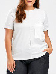 Pocket Plus Size Short Sleeve T Shirt