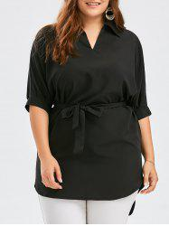 V Neck Plus Size Tunic Top