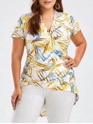 Graphic Plus Size High Low Hem T-shirt
