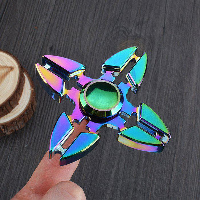 Colorful Focus Toy Crab Clip Fidget Finger SpinnerHOME<br><br>Color: COLORMIX; Products Type: Fidget Spinner; Frame material: Alloy; Swing Numbers: Quad Bar; Weight: 0.0850kg; Package Contents: 1 x Fidget Spinner;