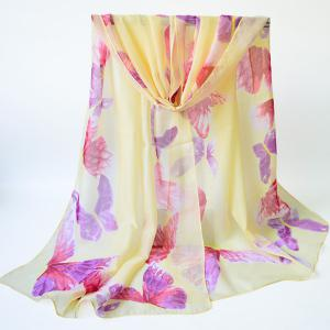 Gossamer Watercolour Butterfly Printing Shawl Scarf