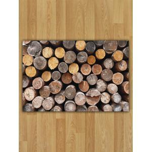Wood Print Nonslip Flannel Area Rug - Wood - W16 Inch * L24 Inch