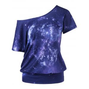 Galaxy Skew Collar T-Shirt
