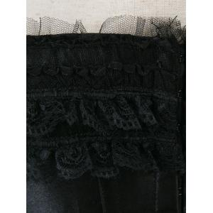 Bowknot Lace Panel Lace-Up Corset - BLACK S