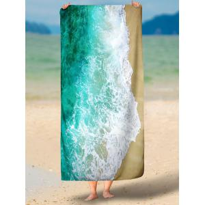 Sea Tide Printed Polyester Fabric Beach Throw -
