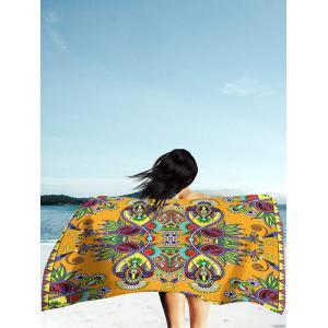 Floral Print Rectangle Beach Throw