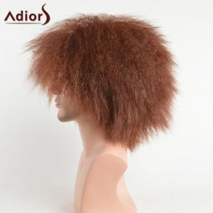 Adiors Shaggy Natural Afro Men Short Synthetic Wig - COLORMIX