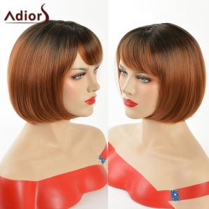 Adiors Silky Straight Side Bang Short Bob Synthetic Wig