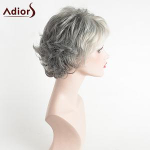 Adiors Pixie Side Bang Slightly Curled Short Colormix Synthetic Hair - COLORMIX